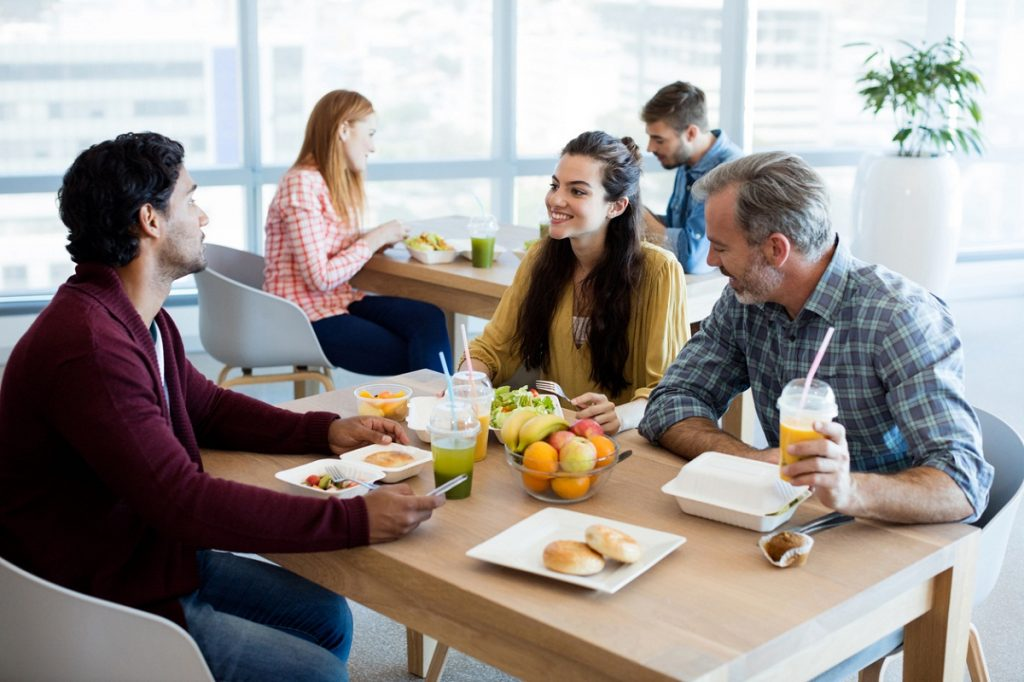 Pausa para la comida en el trabajo