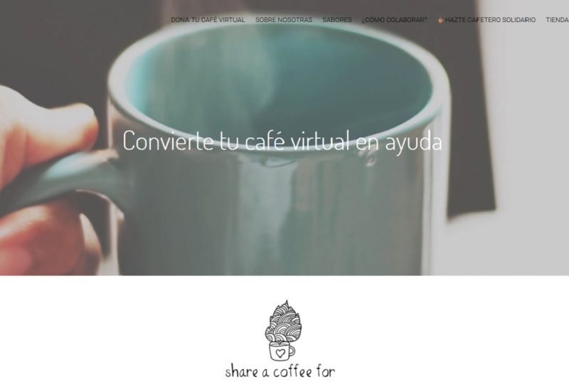Share a coffee For es un ejemplos de startups solidarias