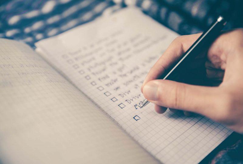 cómo hacer una lista de tareas